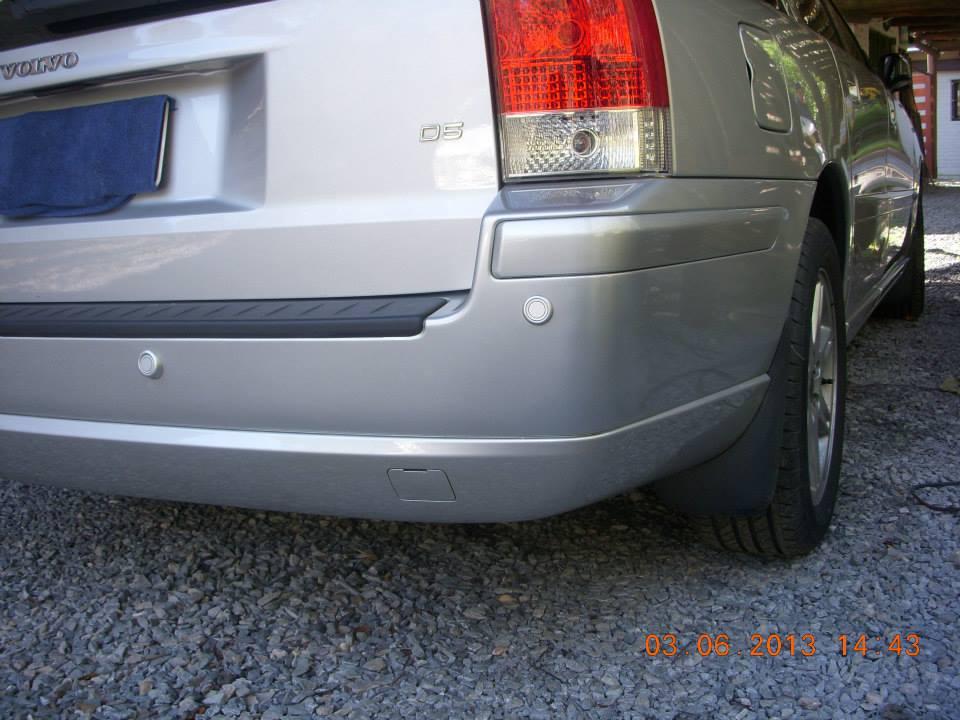 Reparación de paragolpes de un Volvo